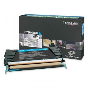 Toner Original C736dn C736H1CG Lexmark Ciano