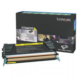 Toner Original C734dn Amarelo - C734A1YG Lexmark
